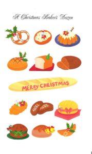"Card 4 ""A Christmas Bakers Dozen"" Size 190mm x 125mm"