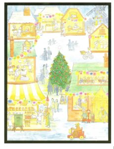 "Card 14 ""Behind Closed Doors"" Size: 280mm x 215mm"
