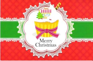 """Card 5 """"Giant Cupcake"""" Size 190mm x 125mm"""