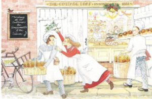 "Card 10 ""Underneath The Mistletoe"" Size: 190mm x 125mm"