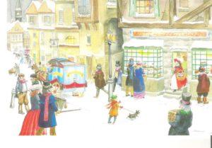"Card 11 ""Ye Olde Bakers Shoppe "" Size: 190mm x 125mm"