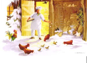 """Card 6 """"The Bakers Dawn Chorus"""" Size 190mm x 125mm"""
