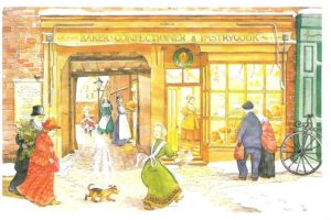 """Card 2 """"The Bakers Shop"""" Size 190mm x 125mm"""